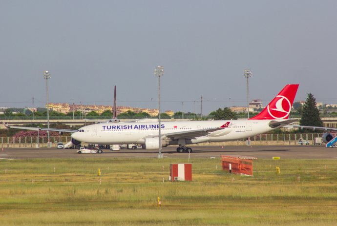 Antalya Airport is a hub for Turkish Airlines.